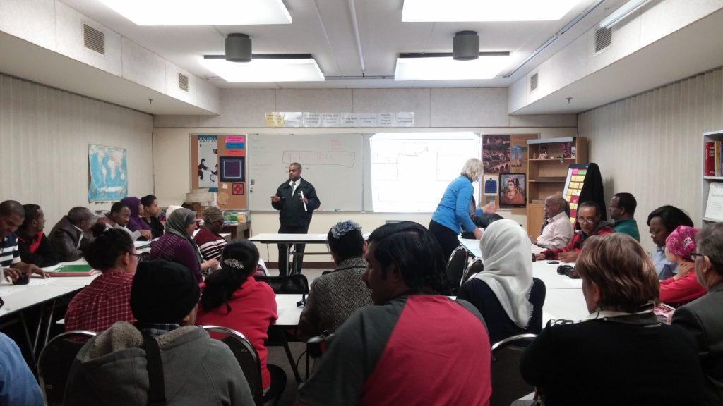 Metro Transit Presenters in English class
